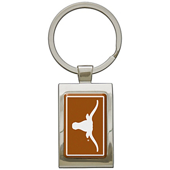 Texas Longhorns Arched Rectangle Keychain