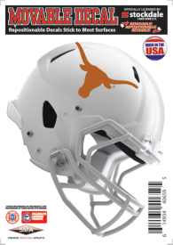 Texas Longhorns 5x7 Movable Helmet Decal