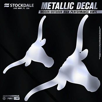 Texas Longhorns 6x6 Metallic Decal
