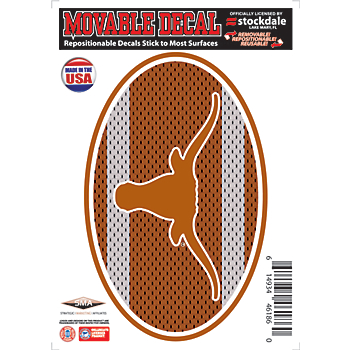 Texas Longhorns 5x7 Movable Oval Jersey Decal