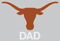 Texas Longhorns 4x5 Dad Decal