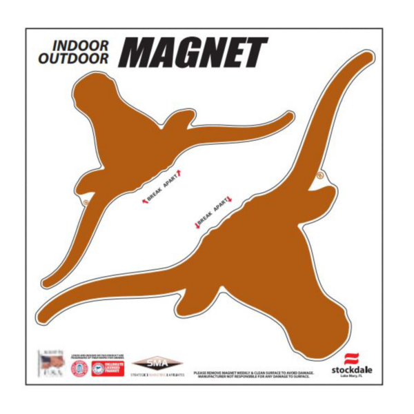 Texas Longhorns 6x6 Magnet