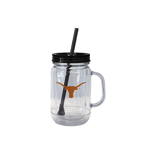 Texas Longhorns Handled Straw Tumbler