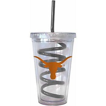 Texas Longhorns 16 oz Swirl Straw Tumbler