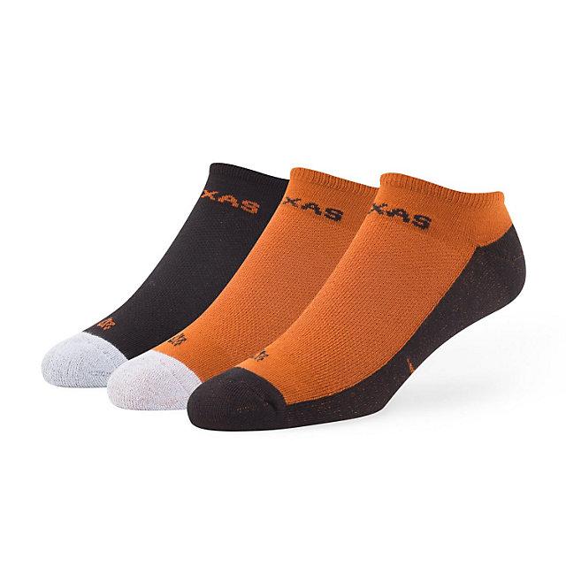 Texas Longhorns 47 3-Pack Team Colored Gait Motion Socks