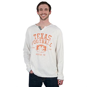 Texas Longhorns Retro Slub Henley Tee