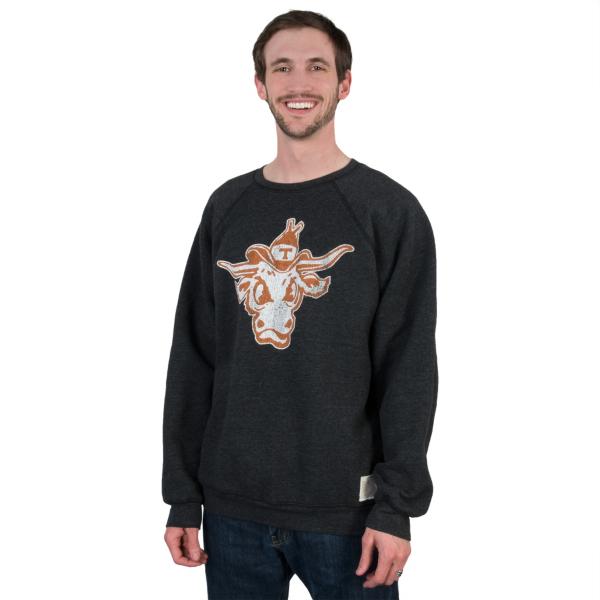 Texas Longhorns Retro Triblend Fleece Crew