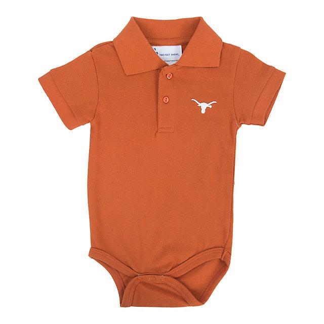 Texas Longhorns Infant Golf Shirt Romper