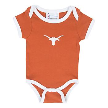 Texas Longhorns Lap Shoulder Ringer Romper