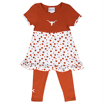 Texas Longhorns Toddler Chevron Legging Set