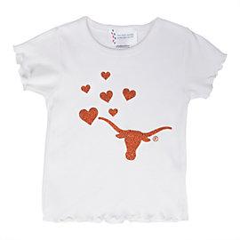 Texas Longhorns Girls Ruffle T-Shirt
