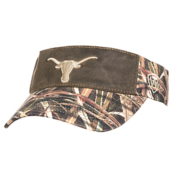 Texas Longhorns Top of the World Camo Scat Visor