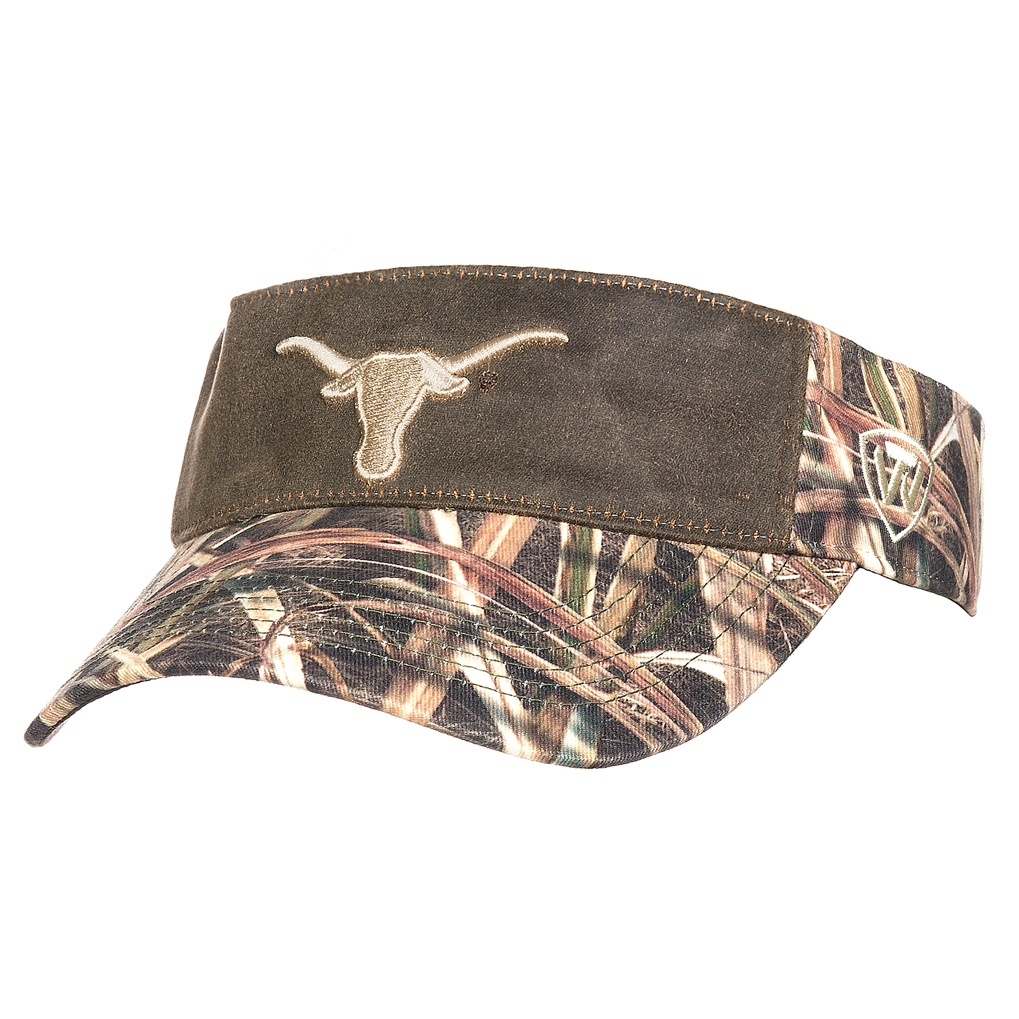 Texas Longhorns Top of the World Camo Scat Visor