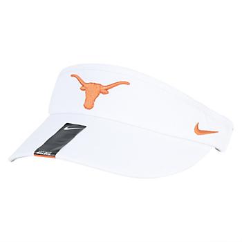Texas Longhorns Nike Sideline Dri-Fit White Visor