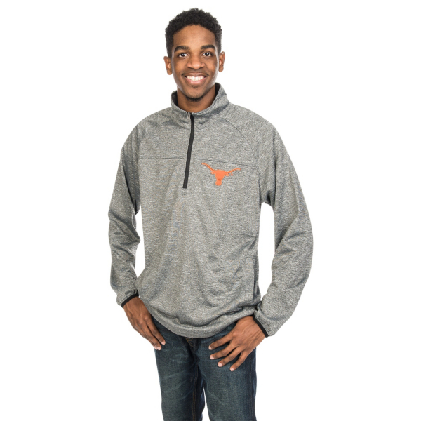 Texas Longhorns G-III Franchise Quarter Zip Fleece Pullover