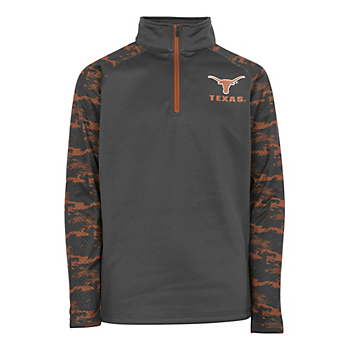 Texas Longhorns Youth Oil Slick 1/4 Zip Pullover