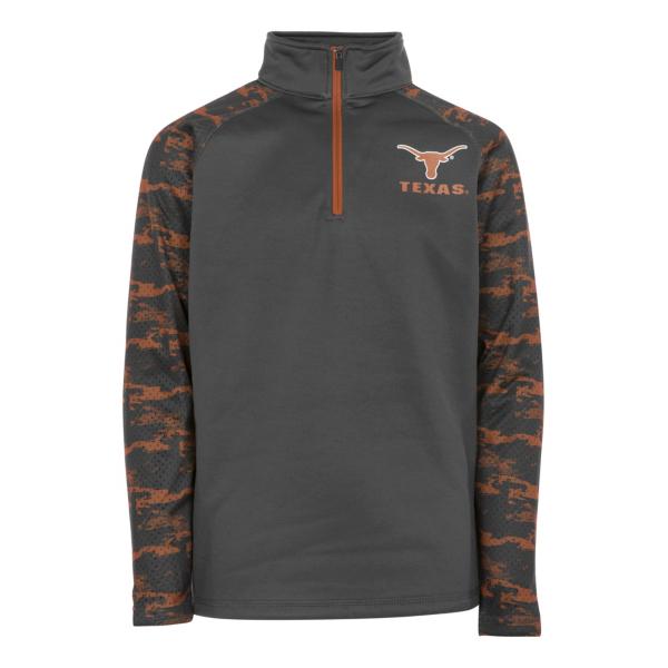 Texas Longhorns Youth Oil Slick 1/4 Zip Pullover
