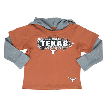 Texas Longhorns Colosseum Toddler Splatter Hooded Tee