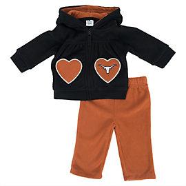 Texas Longhorns Colosseum Infant Plush Hearts Set