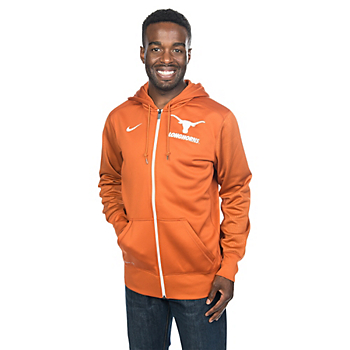 Texas Longhorns Nike Sideline KO Full Zip Fleece Jacket