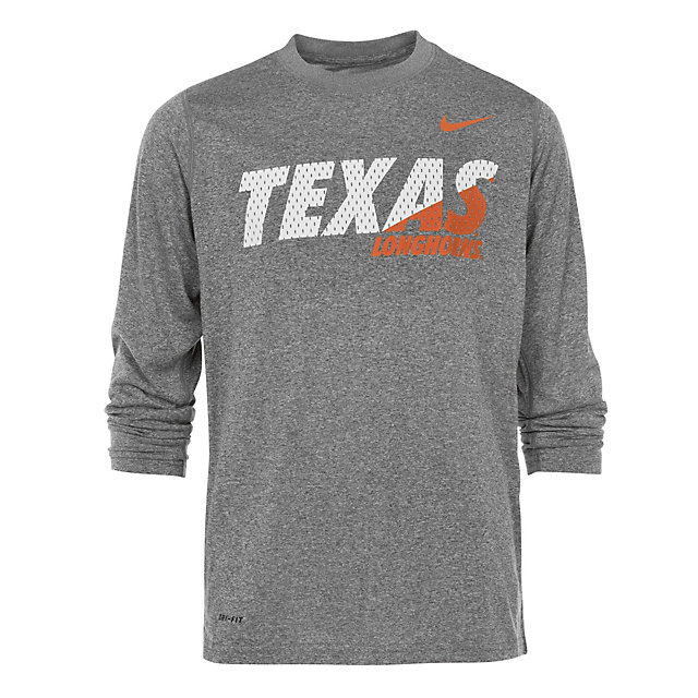 Texas Longhorns Nike Youth Dri-Fit Long Sleeve Tee