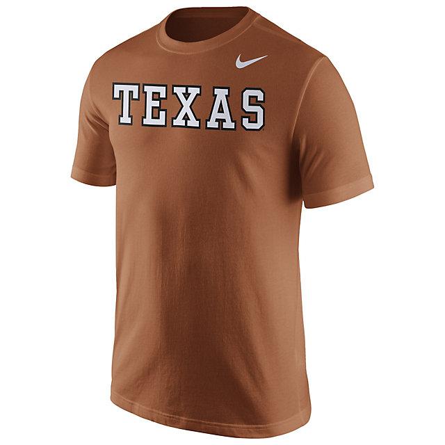 Texas Longhorns Nike Cotton Short Sleeve Wordmark Tee