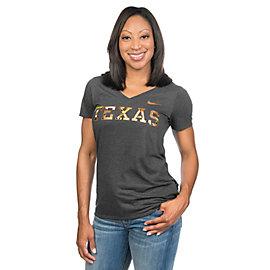 Texas Longhorns Nike Womens Camo Hook Tee