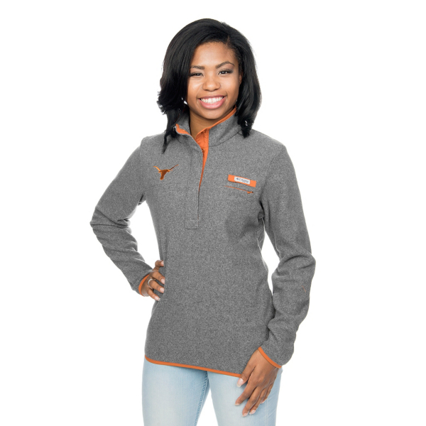 Texas Longhorns Columbia Womens Harborside Fleece Half-Zip Pullover