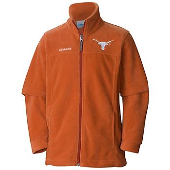 Texas Longhorns Columbia Youth Flanker Fleece Full-Zip Jacket