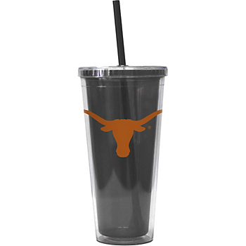 Texas Longhorns 22 oz. Double-Walled Straw Tumbler