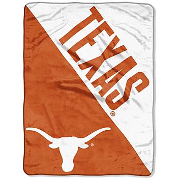 Texas Longhorns Micro Raschel Half-Tone Throw Blanket
