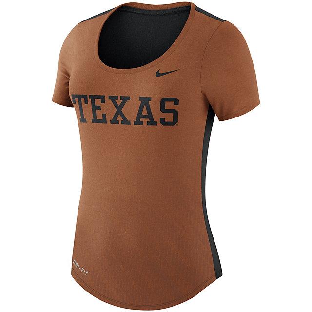 Texas Longhorns Nike Womens Dri-FIT Scoop Neck Tee