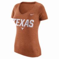 Texas Longhorns Nike Womens Triblend V-Neck Tee