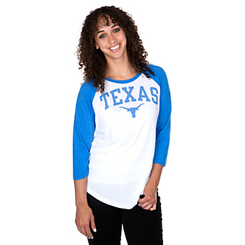 Texas Longhorns Nike Womens Arch Raglan T-Shirt