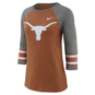 Texas Longhorns Nike Womens Stripe Raglan Tee