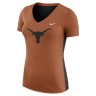 Texas Longhorns Womens Nike Dri-FIT V-Neck Tee