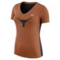 Texas Longhorns Womens Nike Dri-FIT V-Neck Tee