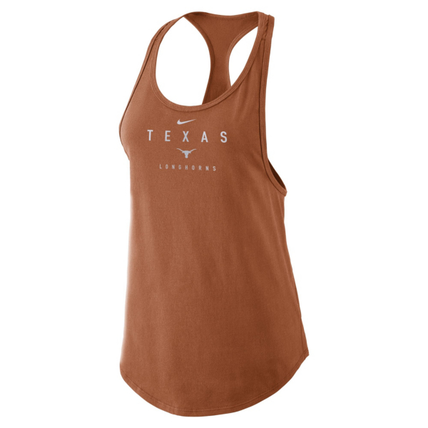 Texas Longhorns Womens Nike Cotton Gym Tank