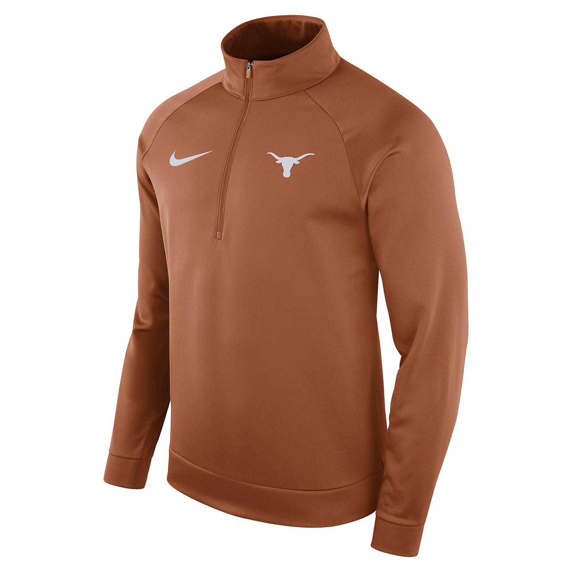 Texas Longhorns Nike Therma Half Zip Pullover