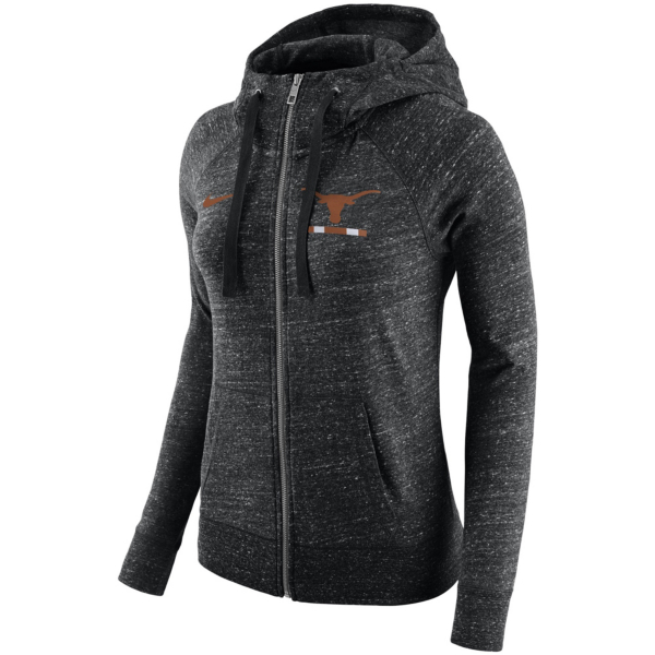 Texas Longhorns Nike Womens Full Zip Gym Hoody