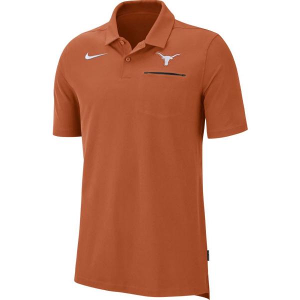 Texas Longhorns Mens Nike Dri-FIT Polo