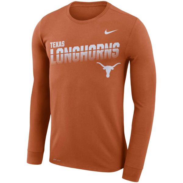Texas Longhorns Nike Mens Legend Sideline Long Sleeve T-Shirt
