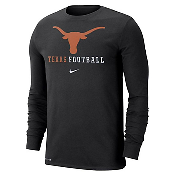 Texas Longhorns Nike Icon Wordmark Long Sleeve T-Shirt