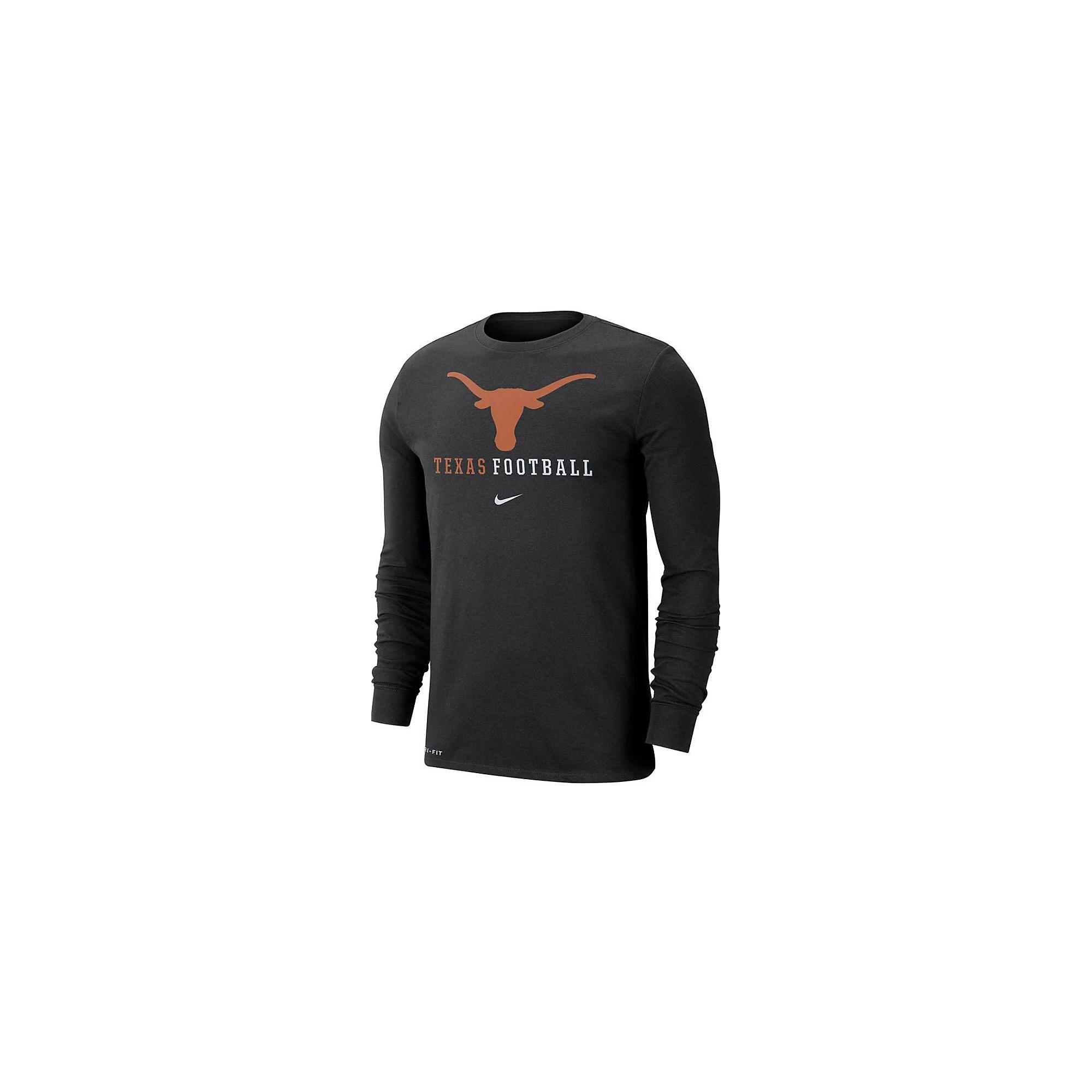 Texas Longhorns Nike Icon Wordmark Long Sleeve T-Shirt