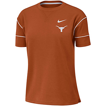Texas Longhorns Nike Womens Breathe Top