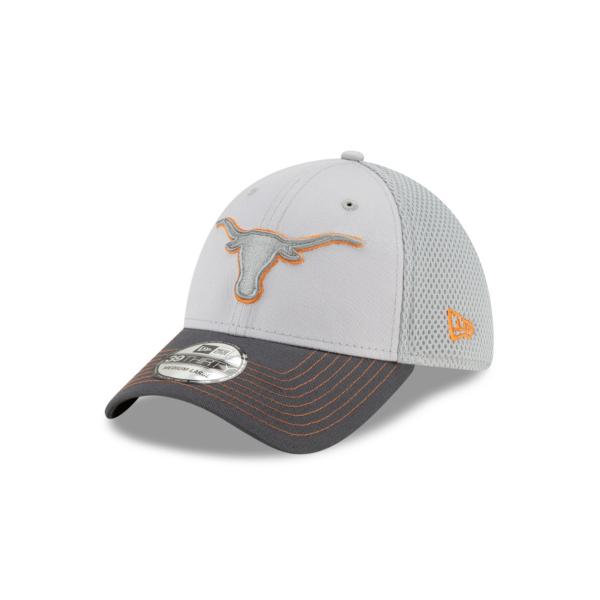 Texas Longhorns New Era Mens Grey Neo 39Thirty Cap