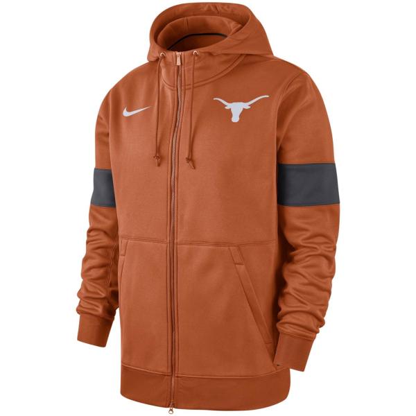 Texas Longhorns Nike Mens Therma Full Zip Hoody