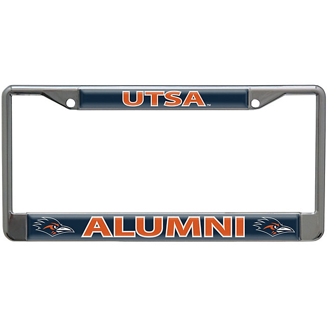 Utsa Roadrunners Acrylic Alumni Slogan License Plate Frame