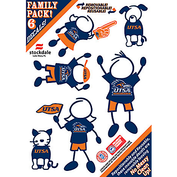 UTSA Roadrunners 5x7 Family Decals