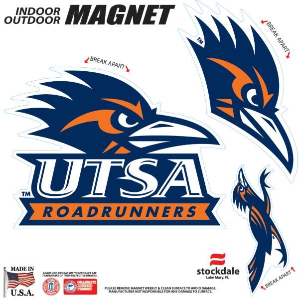 UTSA Roadrunners 8x8 Magnet